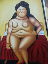 "Ölgemälde   nach Fernando Botero"" Venus "" handgemalt"