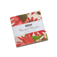 """PAINTED MEADOW~MODA  FABRIC~42- 5"""" SQUARES- CHARM PACK~Robin Pickens~48660PP"""