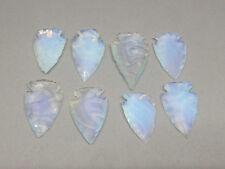 """Set of (5) 1"""" Opal Arrowheads Hand Knapped Arrowheads for Jewellery"""