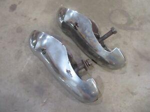1947 Ford Deluxe car front bumper guard pair set chrome hot rod rat rod parts