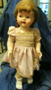 """16"""" Ideal Doll Saucy Walker in original dress and shoes with stand"""