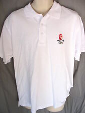 Beijing 2008 Summer Olympics White Polo Shirt Officially Licensed Product NWT