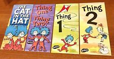 NEW! DR. SEUSS CAT IN THE HAT THING ONE THING TWO JUMBO BOOKMARKS PARTY REWARDS
