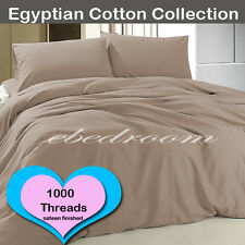 1000 thread count Egypt Cotton King-Single Fitted Sheets Sheet Sets Mocha Color