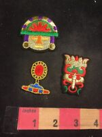 3 Patch Lot - Lots Of Gold / Red Colors And Other Colors 91WJ