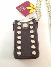 NEW SO Ipod Mini Brown Case with Chrome Chain and Chrome Buttons