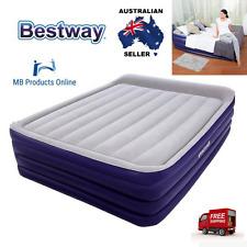 "Bestway Inflatable Air Bed LUXURY QUEEN 80""x60""x22"" Raised MATTRESS Inbuilt pump"