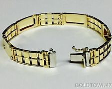 14kt Yellow+White Gold Railroad Type+Nail Head Men's Rolex Bracelet