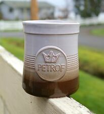 Petrof Crown Piano Logo Terracotta Spun Pottery Art Handmade Coffee Mug Signed