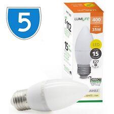 5x 5w = 30w High Lumen E27 LED Edison Screw Candle Bulb Cool Daylight White 850