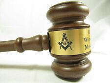 """Personalized Engraved 10.5"""" Masonic Wood Gavel"""