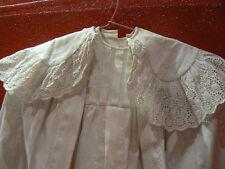 antica robe battesimo e il suo mantello 19e ricamo inglese
