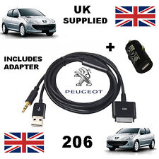 Peugeot 206 iPhone iPod 3.5mm USB & Aux Cable replacement and USB charger
