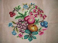 Ep 271/4 Vintage Fruit & Flower Preworked Needlepoint Canvas