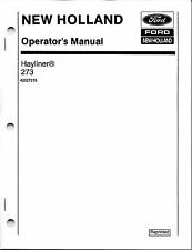 New Holland 273 Square Baler Operator Manual
