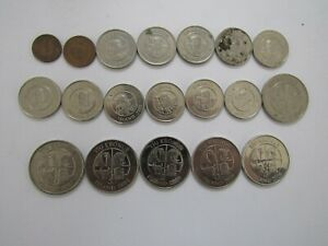 Lot of 19 Different Iceland Coins - 1981 to 2011 - Circulated