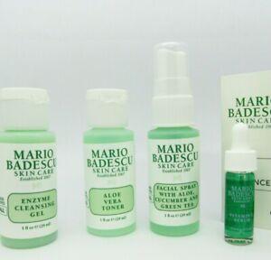Mario Badescu Enzyme Cleansing Gel Aloe Vera Toner Facial Spray & Vitamin C lot