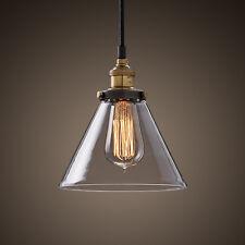 Pendente Industriale Retrò Vintage Soffitto Di Vetro Lampadario Lampada con una lampadina