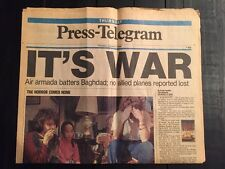 Long Beach Press-Telegram of Desert Storm iraq Gulf war beginning-1/17/1991