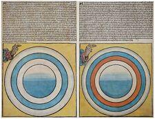 Schedel 1493 - Schöpfung Blatt III u. IV - Creation Folio III and IV - Original
