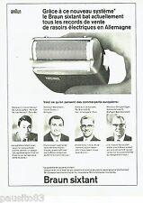 PUBLICITE ADVERTISING 106  1966  Braun Sixtant  rasoir  éléctrique