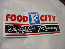 Dale Earnhardt # 3 Racing   FOOD CITY   Decal / Sticker