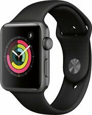 New Apple Watch Series 3 38mm Space Gray Alum Case Sport Band Smart Watch - BNIB