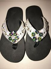 Crystal Beautiful Flip-Flops Size 5-6 Small