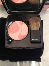 Rare Genuine Chanel Jardin De Chanel Blush Camélia Rosé Compact With Brush BNIB