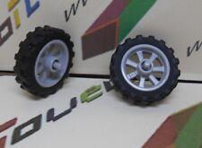 minifig lego 2x roue pour moto ref: 50862 4590443 / 50861 6064174 4244953