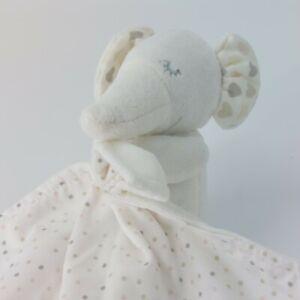 M&S Elephant Heart Ears & Spots Cream Comfort Blankie Comforter Baby Toy