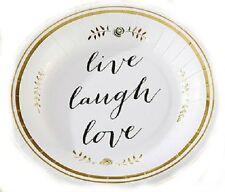 Set of 24 Live Laugh Love Paper Plates Bridal Shower Wedding Party Decorations