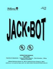 Jack-Bot Pinball Operations/Service/Repair Manual Jackbot Williams Pps 10E/Ud