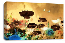 LARGE CANVAS PICTURE BROWN CREAM CHINESE WALL ART A1