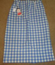 Vintage wool blue & white plaid skirt New with tags