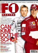 F1 RACING MAGAZINE November 2003 Schumacher Raikkonen Montoya Coulthard Alonso