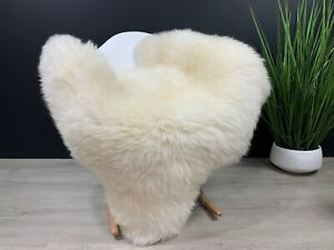 Sheepskin / Sheepskin Cream White / Genuine Natural Sheepskin Rug Pelt Pet Throw