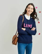 Joules Womens Esha Crew Block Jumper in NAVY LOVELY