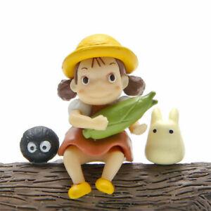 3pcs Studio Ghibli Anime My Neighbor Totoro Mini Figure Fairydust Figurine Toy