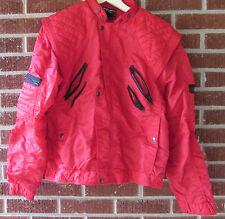 Vintage 80s Parachute Jacket Bugle Boy Large Red Black Nylon Quilted