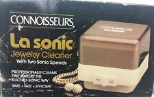 NEW Connoisseurs La Sonic Jewelry Cleaner 2 Speeds Professional Home Cleaning