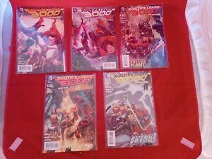 Lot of 5 JUSTICE LEAGUE 3000 #1 2 3 5 7 Superman, Batman DC Comics 2014 NM