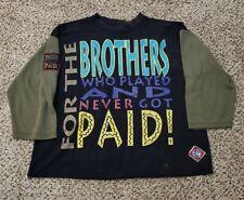 Vintage Negro League Baseball Shirt Brothers Underground Railroad USA Size XL