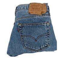 Mens Levis 501 Button Fly Jeans Made USA Size 34x30 Blue Denim Actual 33x30 Vtg