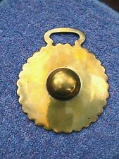 ANTIQUE HORSE BRASS – STAMPED SUN BOSS DISC WITH SCALLOPED EDGE