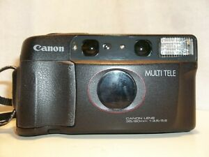 Canon Sure Shot Multi Tele 35mm Camera 60mm with carry case 1988