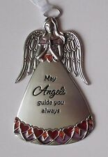 j May Angels guide you always Stained glass look Guardian Angel Ornament Ganz