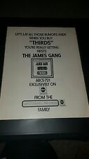 James Gang Thirds Rare Original Promo Poster Ad Framed!