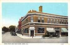 Anna Illinois State Bank and Trust Vintage Postcard AA26745