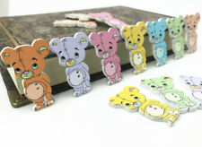 Wooden Buttons sewing Mixed Toy Bear Handicrafts Scrapbooking DIY Kid's 32mm